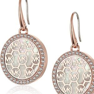 New Authentic Michael kors Rose gold earrings.